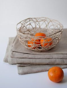 Make a bowl out of twine