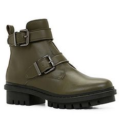 Love these lug sole boots from ALDO.