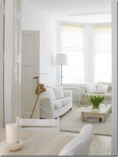 White livingroom assuming you have no kids or friends...lol