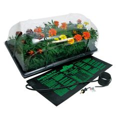 """HYDROFARM 72 Cell Pack 6"""" Dome Hot House With Heat Mat and Tray * Grow bigger and taller starts * Increase germination success * Better humidity control for optimum growth * Instructions with growing tips * Seed starting booster * UL listed waterproof heat mat #hometools #homeequipment #homedepot #houseneeds"""