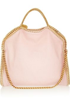 Stella McCartney | The Falabella convertible linen-canvas shoulder bag | NET-A-PORTER.COM