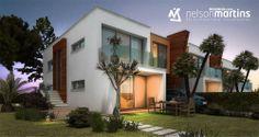 DESENHO3D.com,  3D Architectural Visualization,  Moradia Portuguesa,  Modern house.