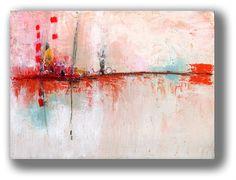 Original Painting Landscape Fire Red Distant por ChristinaRomeo