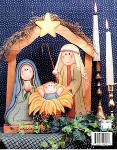 PESEBRE madera - Mis Manualidades y muchas cosas - Picasa Web Albums Nativity Ornaments, Christmas Nativity Scene, Christmas Wood, Christmas Holidays, Christmas Decorations, Christmas Ornaments, Nativity Scenes, Tole Painting Patterns, Theme Noel