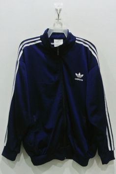 8d790e04e2eb Adidas Jacket Men XL Vintage 90s Adidas Firebird Navy Blue Track Top  Trefoil Jacket