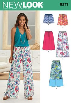 Breeze through summer in skirts, shorts and wide leg pants that go anywhere – choose mini, maxi or somewhere in between. Sew your style with New Look pattern 6271.