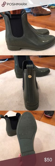 Rain boots Hunter green rain boots only worn twice !! Sam Edelman Shoes Winter & Rain Boots