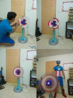 Captain America Is Broke [Cosplay] I want to paint my fan in Summer!!!