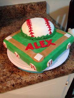 Baseball cake for boys birthday