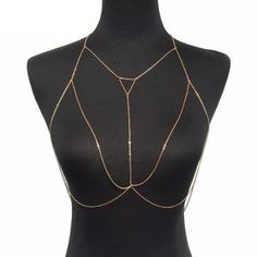 Gold Geometric Multilayered Body Chain