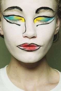 beauty at Vivienne Westwood Red Label, fall/winter 2013