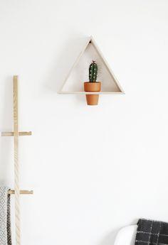1 madera de soporte de planta triangular bricolaje