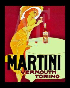 VP-388 Vintage Poster Art 8x10 PRINT Art by ArtisticEphemera (Art & Collectibles, Prints, Handmade, Antique Image, Scrapbooking, Ephemera, vintage poster, art nouveau, martini vermouth, cocktail poster, art nouveau lady)