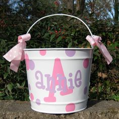 Personalized Easter Bucket Basket  10 quart by happythoughtsgifts, $26.00