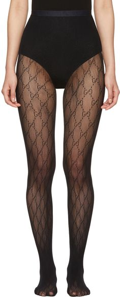 Gucci - Black GG Supreme Stockings Stockings Outfit e9778c8b494