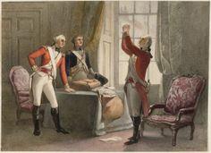Henry Warren, George Washington in British Regular Uniform, 1825-50. Watercolor on paper.
