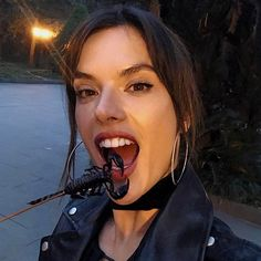 Alessandra Ambrosio munched on some scorpion looks like in China  http://celebsip.com/celebrity-instagram-roundup-20/