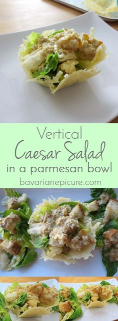 Make your own bowls from Parmigiano Reggiano cheese. They're perfect for Caesar Salad and easy to make. You only need 10 minutes.