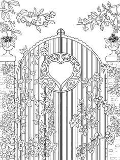 Freebie Garden Gate Coloring Page Craft Gossip