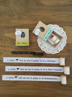 Pregnancy Announcement to Family, You're Going To Be A Grandma, Secret Message Matchbox Card