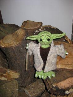 Knitted Yoda.