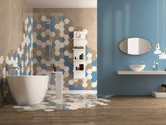 Bleu de France pour une salle de bains hors norme