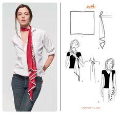 Resultado de imagen para how to wear a bandeau scarf