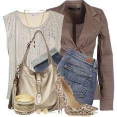 Blazer, Pumps & Jeans.  #womens fashion #fall fashion