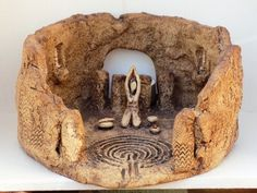 Temple Tea Light - Labyrinth - Wyn Abbot Ceramics