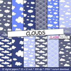 Clouds digital paper CLOUDS with clouds and sky by ClaireTALE, $4.80  https://www.etsy.com/listing/197665088/clouds-digital-paper-clouds-with-clouds?ref=sr_gallery_20&ga_order=date_desc&ga_view_type=gallery&ga_ref=fp_recent_more&ga_page=11&ga_search_type=all