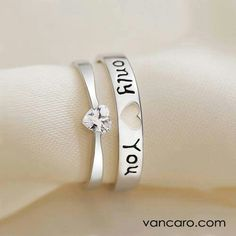 I like the band with the jewel for a promise ring. Nice and simple.