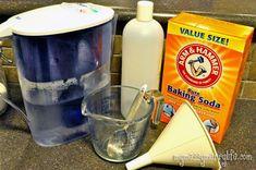 Ingredients for Baking Soda Shampoo