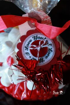 Valentine Bags using Red Garland to embellish