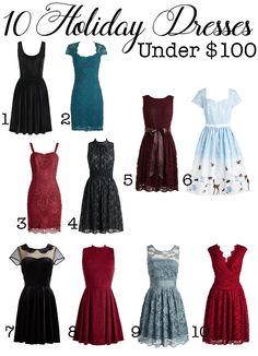 10 Holiday Dresses U
