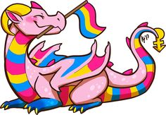 Pansexual Pride Flag Dragon