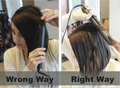 Tip Tuesday / / Flat Iron Curls