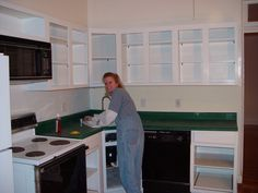Quick Kitchen Counter Update - With Textured Spray Paint - Old Town Home