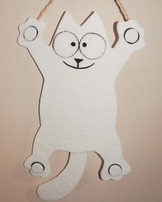 #handmade #door or #wall #hanging #felt #Simonscat