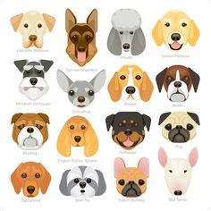 Caras De Algodón Perro Cachorros Perros Digital Tela De Cortina Cojines de acolchar Craft