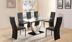 Exclusive Cassia Dining Set with 6 Chairs