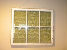 Repurposing an old window