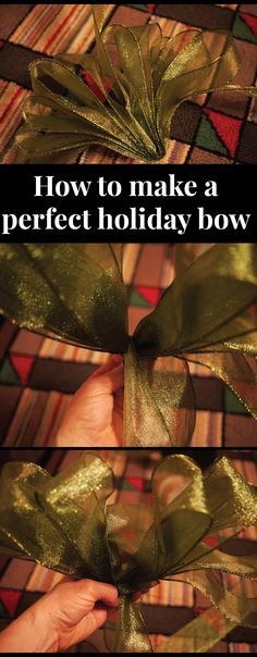 How to make a perfect holiday bow #DIY #holiday from @Amy Lyons Beth Cupp Dragoo | ABCDdesign