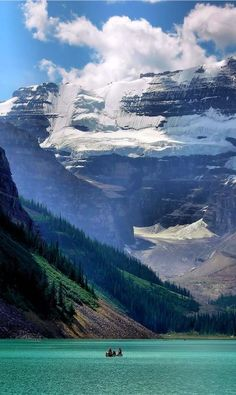 Lake Louise at Banff National Park in Alberta, Canada • photo: Jotor on Flickr. Check out that cool T-Shirt here:  https://www.sunfrog.com/Earth-day-T-Shirt-hoodie-Black-Guys.html?53507