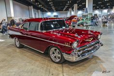 Gorgeous Candy Apple Red '57 Chevy Bel Air