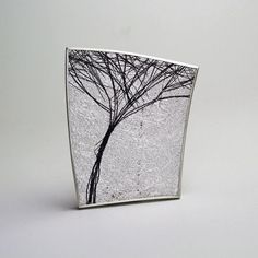 Gill Galloway Whitehead - Silver Tree Brooch - ORRO Contemporary Jewellery Glasgow