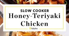 Great collection of latest food recipes Crockpot Recepies, Slow Cooker Recipes, Cooking Recipes, Honey Teriyaki Chicken, Teriyaki Sauce, Large Slow Cooker, Soup Crocks, Fresh Ginger, New Recipes
