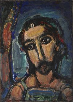 Georges Rouault. Head of Christ. 1937. Oil on canvas, 50 3/4x39 in.