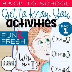 Begin the year with some fun and fresh back to school activities to help your students get to know each other during the first weeks of school! These seven back-to-school activities, geared toward students in grades 3 through are engaging and interactive! Classroom Procedures, Classroom Activities, Classroom Ideas, Counseling Activities, Teaching Activities, Preschool Classroom, Future Classroom, Classroom Management, Kindergarten