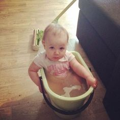 'I was mopping the floor, turned around and saw this...'