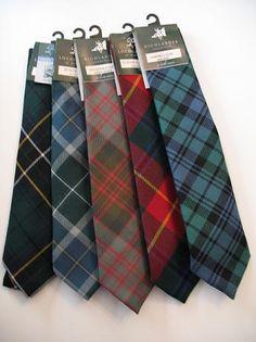 Tartan Ties.  Scottish Trading Company.  $125 for 5